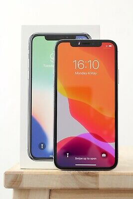 Apple iPhone X - 64GB - Silver - (Unlocked) - 87% Bat Health - Boxed.