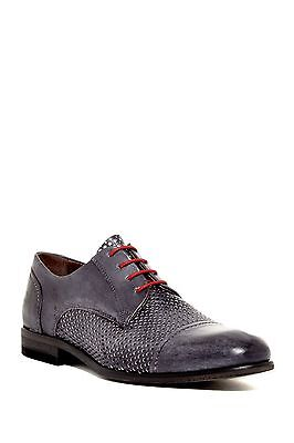 Bacco Bucci ITALY New Perforated Leather Oxford Shoe Black/ Grey Men's 13 NIB Bacco Bucci Oxford