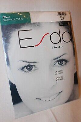 Esda Classic 30 den Strumpfhose weiß matte Optik mit Zwickel Größe 40-42 online kaufen