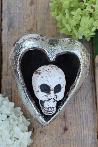 Day of the Dead Clay Heart & Skull Handmade by Rafael Pineda Mexican Folk Art