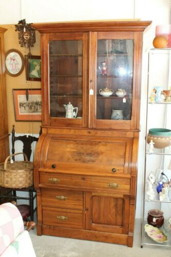 Antique Cherry Cylinder Desk