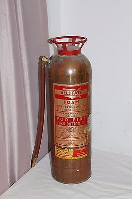 Brass Allstate Foam 2 1/2 Gallon Fire Extinguisher Sears and Roebuck