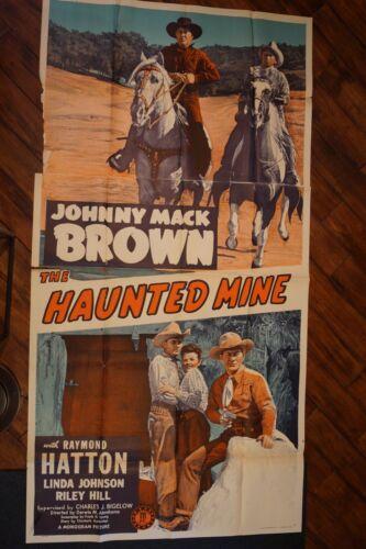HAUNTED MINE (3 SHEET) - JOHNNY MACK BROWN