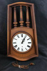 Sunbeam Wood Look Electric Wall Clock NIB