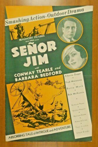Senor Jim Conway Tearle Barbara Bedford 1936 Vintage Movie Press Book