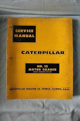 Cat Caterpillar No.12 Motor Grader 99e1-up Binder Service Manual