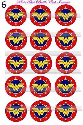 Wonder Woman sHEILDS DC Comics SUPER HERO logos  15-1