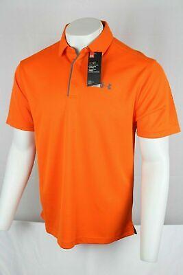 Under Armour Men's Tech Golf Polo Shirt Team Orange 1290140 800