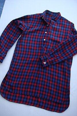 Holzfäller - Hemd   Gr. S    kariert schwarz,blau,rot  authentisch