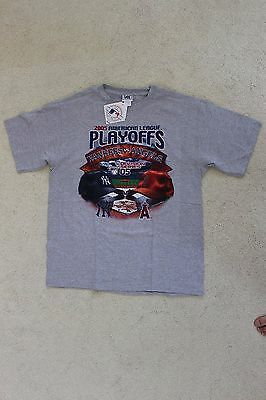 2005 Mlb Al Playoffs Yankees Vs Angels T Shirt Mens L Only  New With Tags