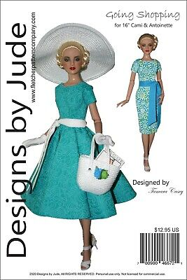Going Shopping Doll Clothes Sewing Pattern for 16