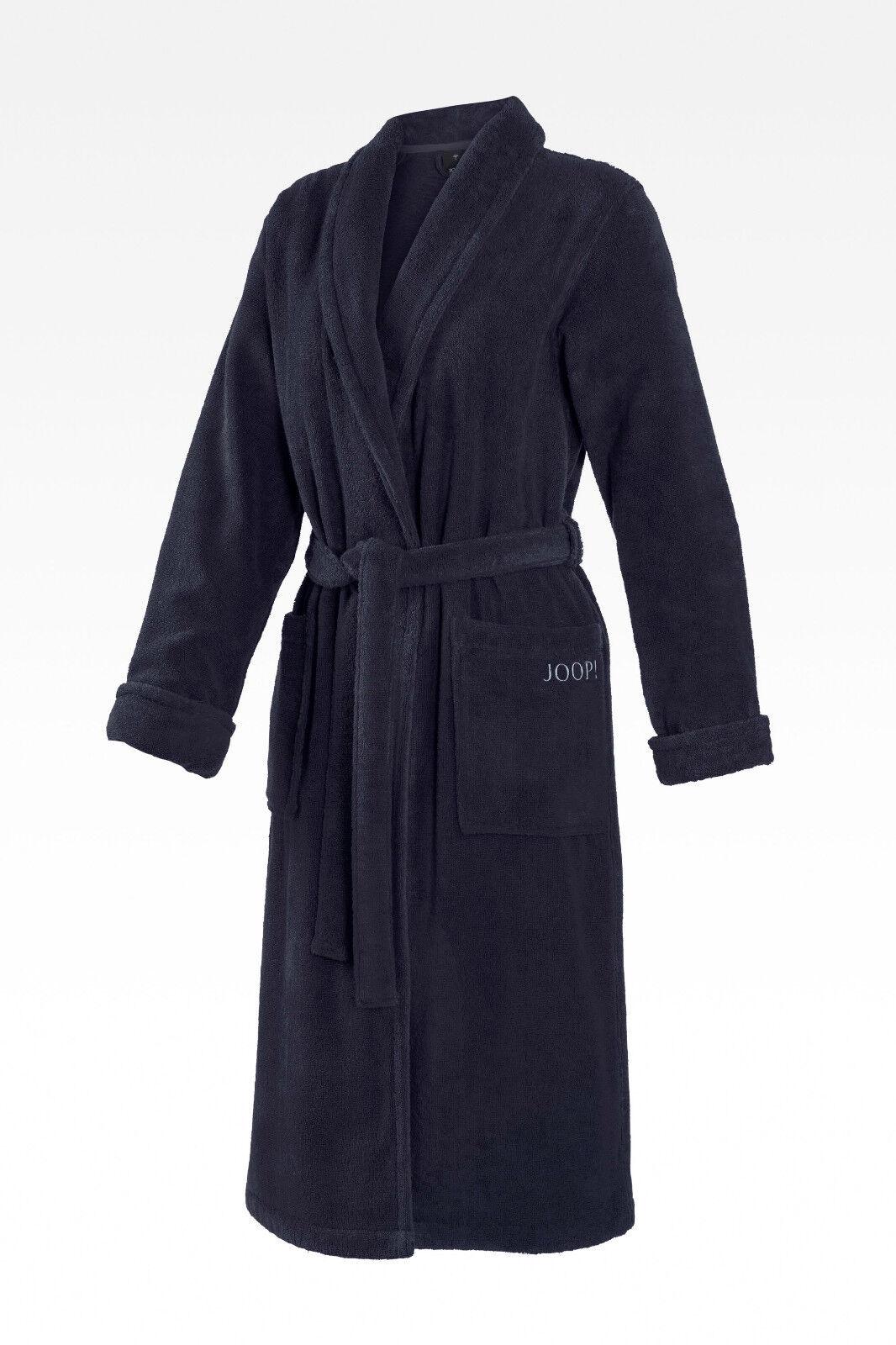 JOOP 1650 Damen Bademantel Größe 36 / 38 S Farbe Blau mit Schalkragen NEU