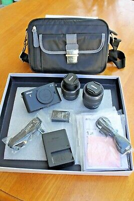 Nikon 1J1 Mirrorles Camera With 2 Lenses, Battery, Charger, Carrying Bag, USB,