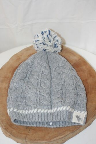 Abercrombie & Fitch Girls Knit Hat Blue White Gray No Size ~ NWT