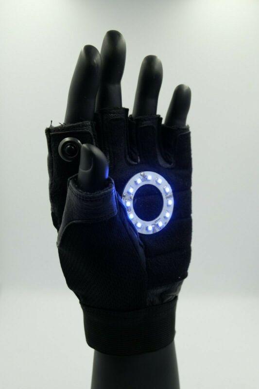 Led Iron man Ark reactor glove , Color led: Blue Left Hand