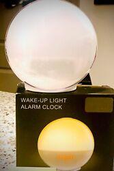 LBell Wake-Up Light: Sunrise Simulator 8 Colors/ Sleep Sounds Fm Radio Clock