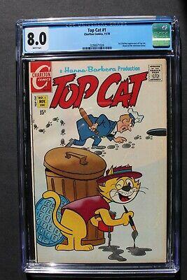 TOP CAT #1 Dibble 11/1970 Charlton Hanna-Barbera Animated TV Cartoon CGC VF 8.0