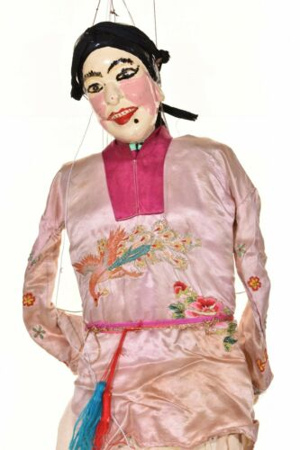 Asian Chinese Handmade Opera String Marionette Puppet Doll w Embroidered Blouse