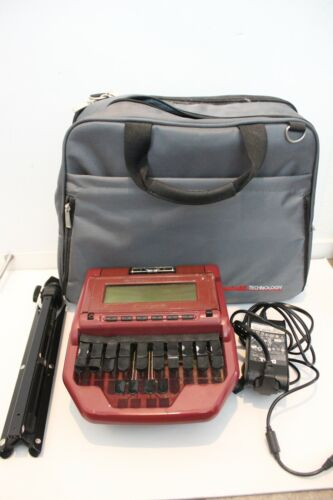 Stenograph Stentura 8000 Court Reporting Writer with case, power cord and tripod