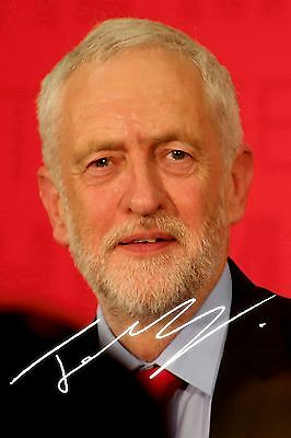 "Jeremy Corbyn Labour party leader PP Signed photograph 6"" x 4"""