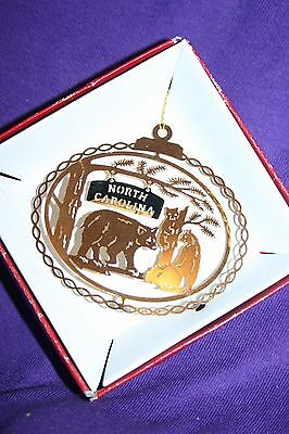 North Carolina ORNAMENT   Souvenir Gifts 24K Gold Plated