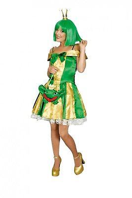 Froschkönigin Kostüm Elfe Fee gold/grün Märchen Gr.36-46 Karneval Fasching