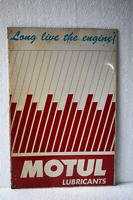 "Vintage Motul Lubricants oil Advertising Tin Sign For Long Life Motor Engine""4"