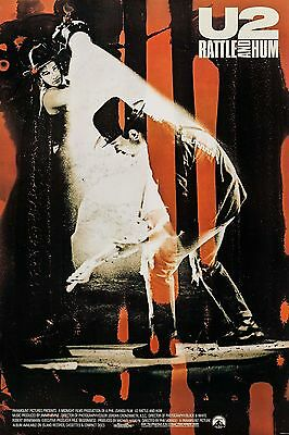 U2 : RATTLE AND HUM (1988) ORIGINAL MOVIE POSTER  -  ROLLED