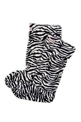 HUNTER Zebra Print Welly fleece Socks Boot Socks sizes MED 5-7 NIB (Welly Fleece)