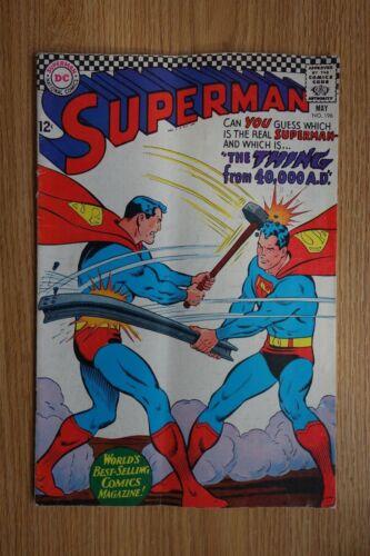 DC Superman #196 (May,1967) Bronze Age Comic
