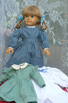 """Retired Vintage American Girl 18"""" Doll Meet Kirsten Pleasant Company 3 Outfits"""