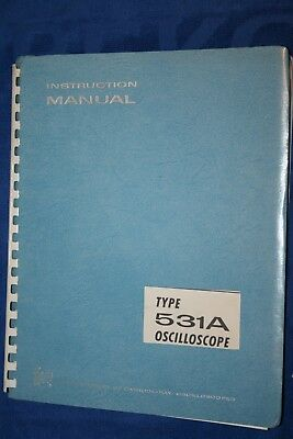 Tektronix Type 531a Oscilloscope Instruction Manual With Schematics