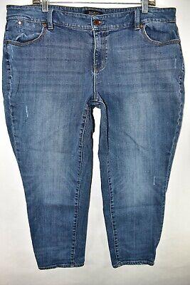 Talbots Jeans Flawless Five Pocket Boyfriend Crop Ankle Sz 18 WP Meas 38x25.5 Cropped Five Pocket Jeans