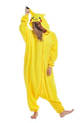 Unisex Adult Sleepwear Animal Cosplay Costumes Pikachu Kigurumi Onesie0 Pajamas