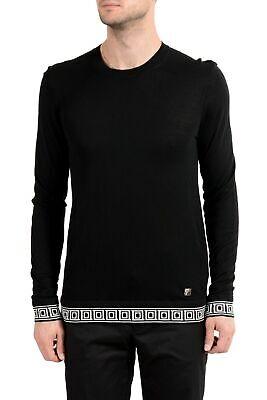 Versace Collection Men's Silk Cashmere Black Crewneck Sweater