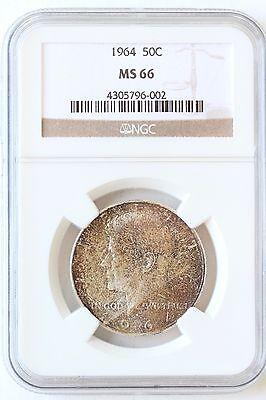 1964 Natural - 1964 P Kennedy Half Dollar, Natural Toning NGC MS66