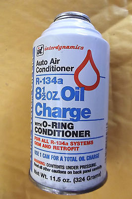 6 x8.5 OZ INTER DYNAMICS A/C OIL CHARGE FOR 134A SYSTEMS WITH O RING CONDITIONER