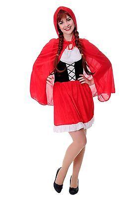 DRESS ME UP - Kostüm Damen Damenkostüm Sexy Rotkäppchen Red Riding Hood Gr. S/M ()