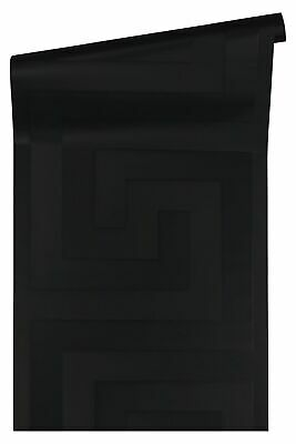 Versace Home Wallpaper greek style black gloss 93523-4 (6,64£/1qm)