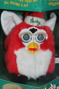NEW-Furby-Original-Special-Limited-Edition-Christmas-Red-1999-Tiger-Electronic