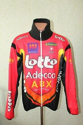 Lotto Nalini Adecco ABX Cycling Jersey Maglia Bike Size L Long Winter MantoTEX