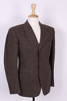 VTG 20S 30S WOOL THREE BUTTON SUIT USA MENS SIZE 38 MINT!!
