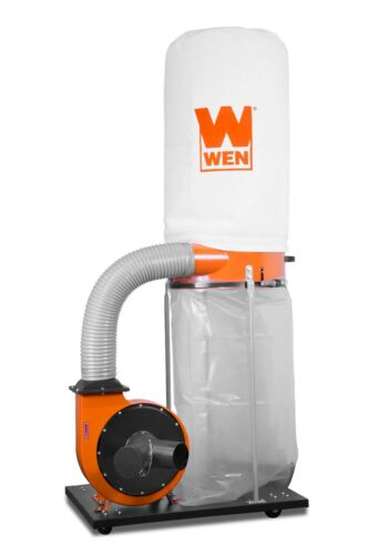 WEN 16A Woodworking Dust Collector with 50-Gallon Collection Bag & Mobile Base