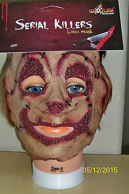 ADULT SERIAL KILLER 22 CLOWN SCARY CRAZY INSANE LATEX FACE MASK COSTUME TB25522](Scary Killer Clowns)