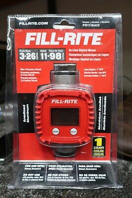 Fill-rite T149 3-26gpm Anodized Aluminum In-line Digital Meter Fr1118a10 --e39