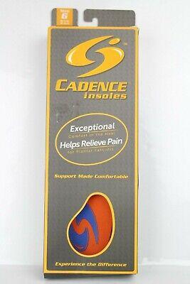 Cadence Original Orange Insoles Orthotic Full Length Shock -