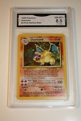 Charizard Holo 4/102 Pokemon Base Set 1999 NM-MT 8.5