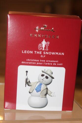 2020 Hallmark Leon The Snowman Elf Movie Keepsake Ornament