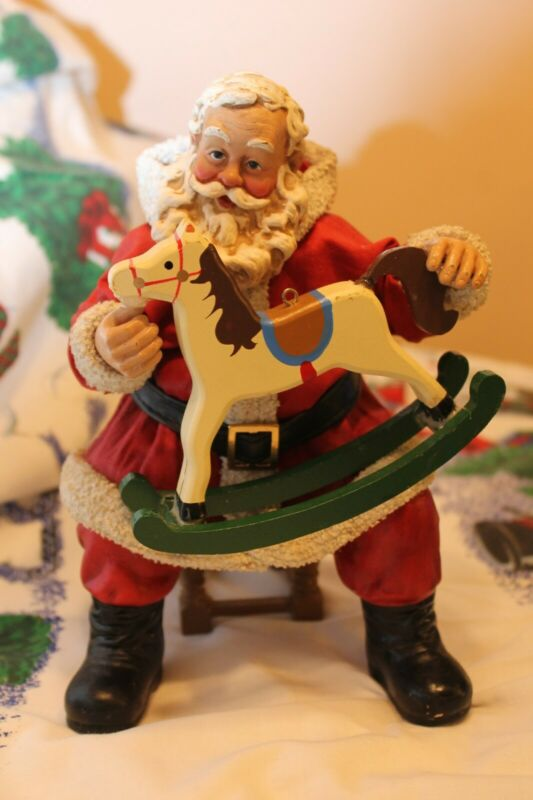 Possible Dreams Santa , with rocking horse RARE!!