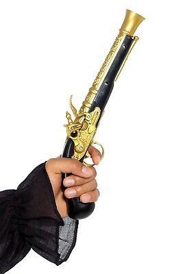 Adult Realistic Pirate Blunderbuss Fake Pistol Gun Fancy Dress Costume - Realistic Pirate Costumes